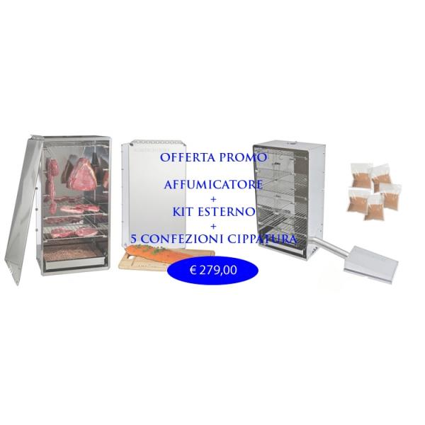 Курильщик комплексное предложение внешний комплект и 6 Kg.Cippato